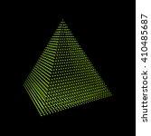 pyramid. regular tetrahedron.... | Shutterstock .eps vector #410485687