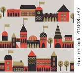 old town seamless pattern.... | Shutterstock .eps vector #410485747