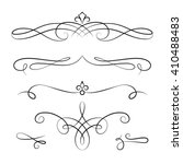 set of vintage calligraphic... | Shutterstock .eps vector #410488483