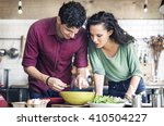 couple cooking hobby lifestyle...   Shutterstock . vector #410504227