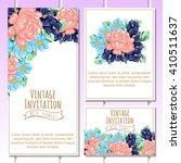 vintage delicate invitation... | Shutterstock .eps vector #410511637