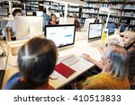 library academic computer... | Shutterstock . vector #410513833
