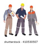 civil engineer  architect and... | Shutterstock .eps vector #410530507