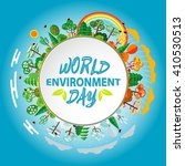 world environment day. world... | Shutterstock .eps vector #410530513