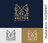 line graphics monogram. elegant ... | Shutterstock .eps vector #410549857