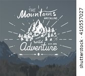 mountains hand drawn sketch... | Shutterstock .eps vector #410557027