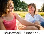 wide angle photo of teen girl... | Shutterstock . vector #410557273
