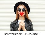 fashion portrait pretty sweet... | Shutterstock . vector #410560513