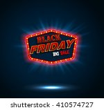 black friday retro light frame | Shutterstock . vector #410574727
