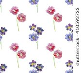 red and blue flowers.... | Shutterstock . vector #410592733