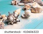 marine summer postcard.... | Shutterstock . vector #410606323