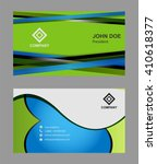 abstract vector business card... | Shutterstock .eps vector #410618377