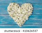 Heart From Cherry Flowers Lyin...