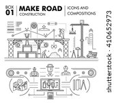 modern road building and bridge ... | Shutterstock .eps vector #410652973