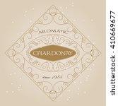 vintage ornament white wine... | Shutterstock .eps vector #410669677