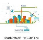 mobile marketing concept.... | Shutterstock . vector #410684173