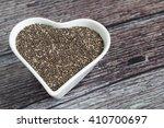 super healthy chia seeds in... | Shutterstock . vector #410700697