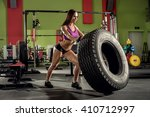 young fitness woman execute... | Shutterstock . vector #410712997