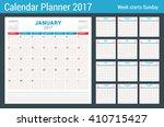 Calendar Planner For 2017 Year...