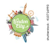 london city illustration  | Shutterstock .eps vector #410716993