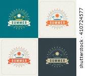 summer holidays retro... | Shutterstock .eps vector #410724577