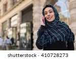 young woman wearing hijab head... | Shutterstock . vector #410728273