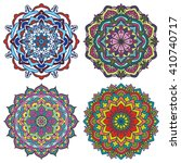 set of mandalas. vector ethnic... | Shutterstock .eps vector #410740717