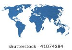 business world concept with... | Shutterstock . vector #41074384