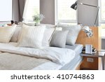 stylish bedroom interior design ... | Shutterstock . vector #410744863