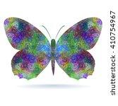 motley butterfly. stylized... | Shutterstock .eps vector #410754967