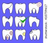 vector set of rotten teeth and... | Shutterstock .eps vector #410759617