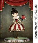 conceptual illustration of girl ... | Shutterstock . vector #410762083