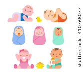 cute baby | Shutterstock .eps vector #410768077