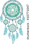 dream catcher with feathers....   Shutterstock .eps vector #410771047