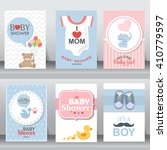 happy mother and baby shower... | Shutterstock .eps vector #410779597