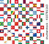 checkerboard pattern with world ... | Shutterstock .eps vector #410781163