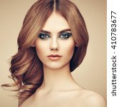 portrait of beautiful sensual...   Shutterstock . vector #410783677