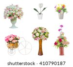 Six Isolated Artificial Flower...