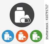 pharmacy icon. medical pills... | Shutterstock .eps vector #410791717