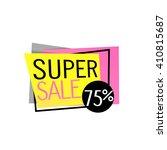 super sale banner design. super ... | Shutterstock .eps vector #410815687