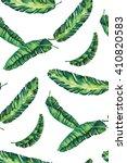 banana leaves watercolor hawaii ... | Shutterstock . vector #410820583