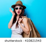 portrait of the beautiful young ... | Shutterstock . vector #410821543