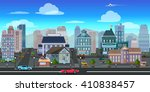 city game background 2d game...