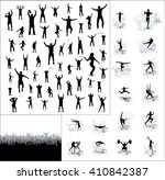 silhouettes of athletes and... | Shutterstock . vector #410842387