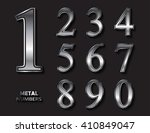 set of metal numbers.vector... | Shutterstock .eps vector #410849047