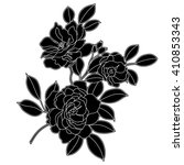 vintage graphical rose ornament.... | Shutterstock .eps vector #410853343