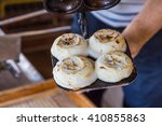 newly cooked traditional umegae ... | Shutterstock . vector #410855863
