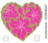 vector lily pattern in the... | Shutterstock .eps vector #410858047