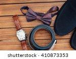 set of groom clothes. wedding... | Shutterstock . vector #410873353