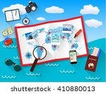planning trip concept at table... | Shutterstock . vector #410880013